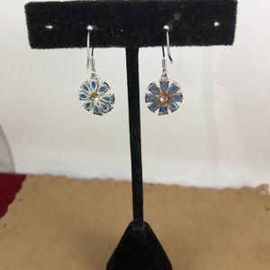 Gem Emporium Jewelry - Nice Pear Cut Blue Sapphire 925 Silver Earrings